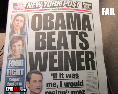 New-york-post-front-page-title-fail-obama-beats-weiner